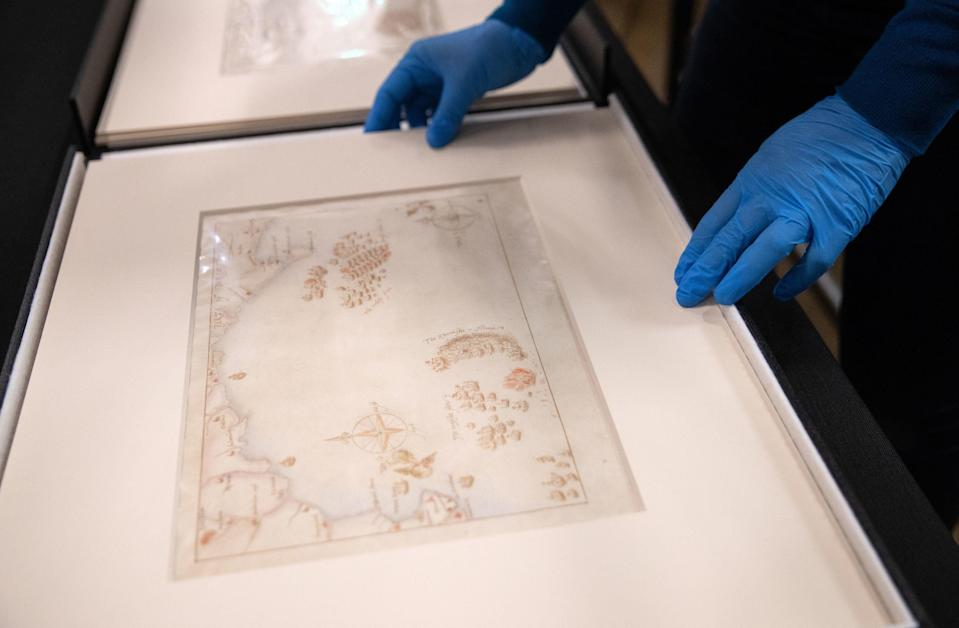 One of the ten rare maps costing GBP 600,000PA