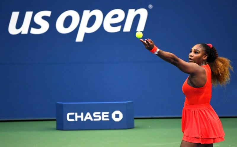 With no fans at U.S. Open, Serena cheers herself to victory