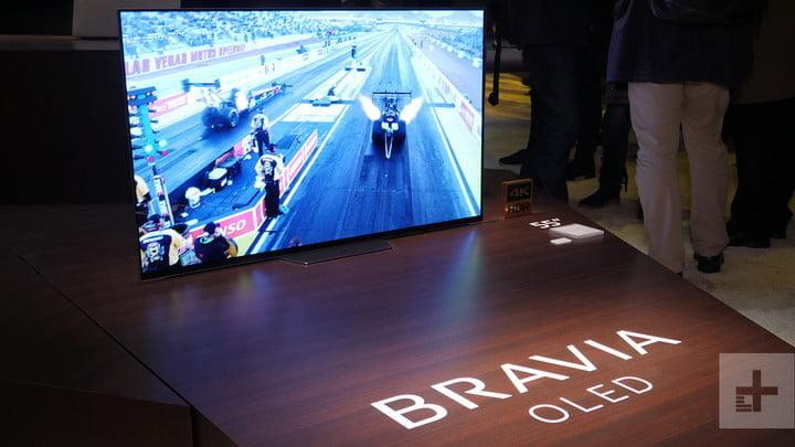 sony 85 inch 8k hdr tv 10000 nit a8f oled hands on series ces 2018 3