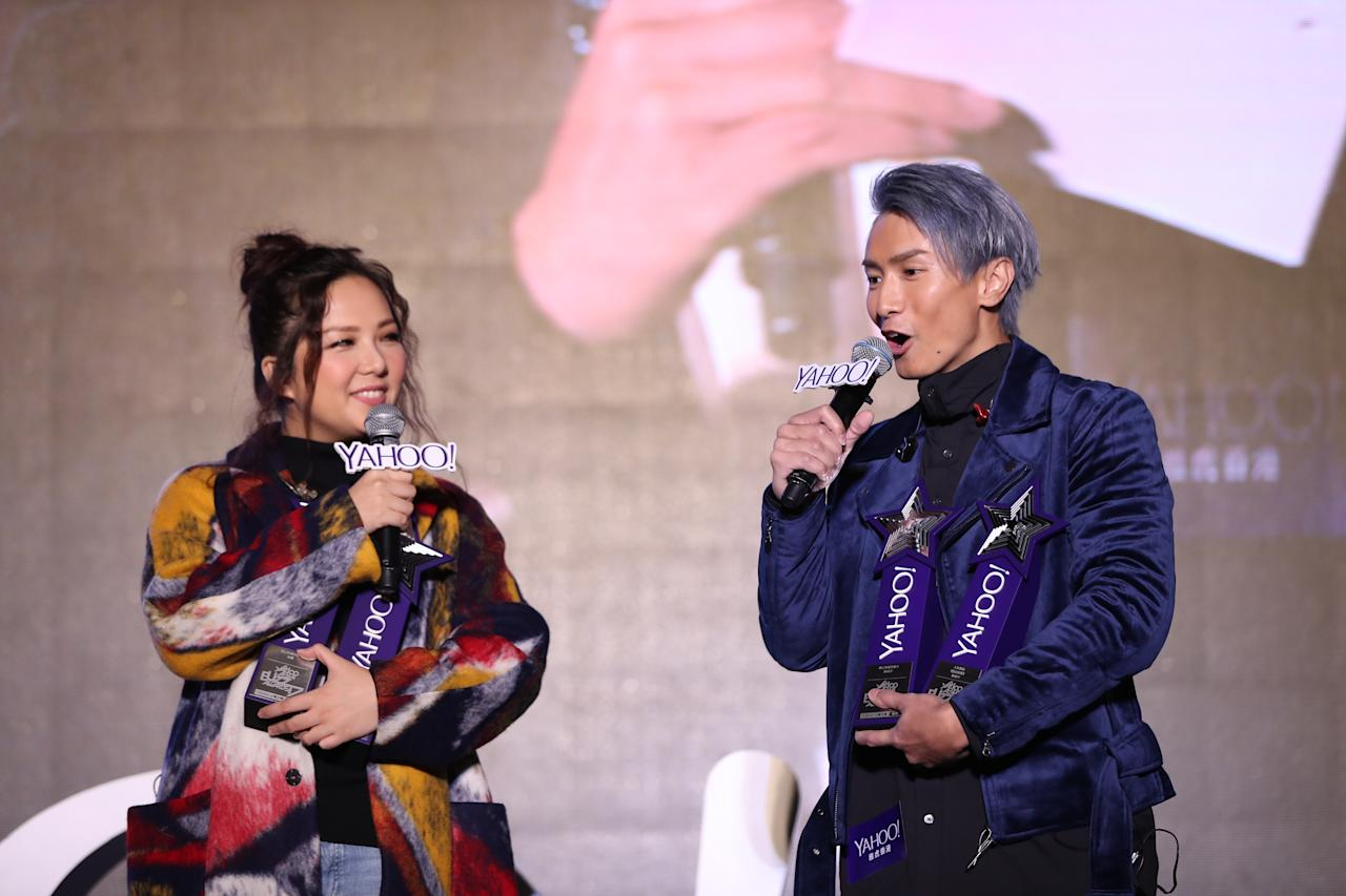 <p>Janice Vidal and Jason Chan at the Yahoo Asia Buzz Awards 2017 in Hong Kong on Wednesday (6 December).</p>