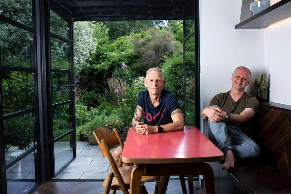 """David and Anson are now free to enjoy their home without the obstruction of an """"unhygienic""""  toilet next to the kitchen  (Daniel Hambury/Stella Pictures Ltd)"""