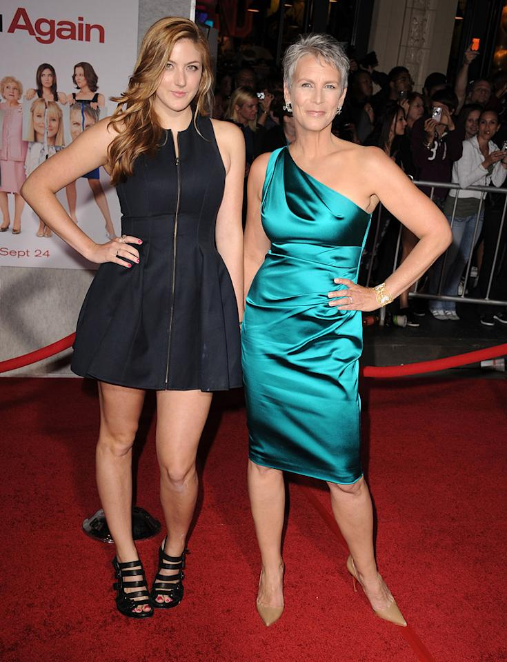 """<a href=""""http://movies.yahoo.com/movie/contributor/1800016528"""">Jamie Lee Curtis</a> and daughter attend the Los Angeles premiere of <a href=""""http://movies.yahoo.com/movie/1810111331/info"""">You Again</a> on September 22, 2010."""