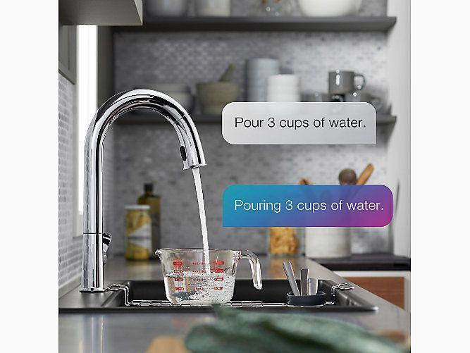 """<p><strong>Kohler</strong></p><p>kohler.com</p><p><strong>$937.15</strong></p><p><a href=""""https://go.redirectingat.com?id=74968X1596630&url=https%3A%2F%2Fwww.us.kohler.com%2Fus%2Fsensate-kitchen-faucet-w-kohler-konnect-and-voice-activated-technology%2FproductDetail%2Fkitchen-sink-faucets%2F1548041.htm&sref=https%3A%2F%2Fwww.delish.com%2Fkitchen-tools%2Fcookware-reviews%2Fg32837828%2Fsmart-kitchen-appliances%2F"""" rel=""""nofollow noopener"""" target=""""_blank"""" data-ylk=""""slk:BUY NOW"""" class=""""link rapid-noclick-resp"""">BUY NOW</a></p><p>You know those wave-to-turn on faucets you that have been in public for years? This faucet does that, but it's also voice-controlled—so you can ask it to fill up your water bottle or dispense exactly three cups of water. Ah, technology.</p>"""