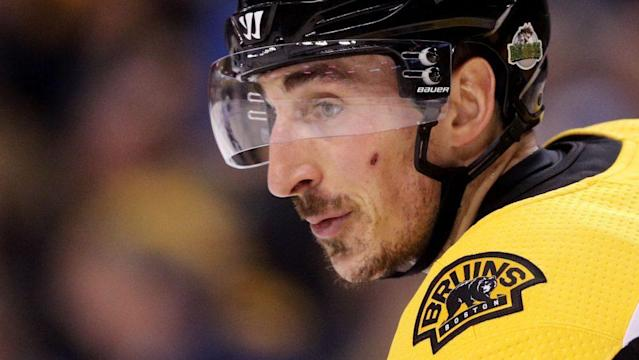 "<a class=""link rapid-noclick-resp"" href=""/nhl/players/4351/"" data-ylk=""slk:Brad Marchand"">Brad Marchand</a> has undeniable skill, but he might be most famous for his antics as an agitator. (NBC Sports)"