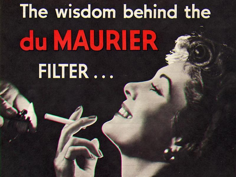 'The wisdom behind the Du Maurier filter', 1952: Photo by Picture Post/Hulton Archive/Getty Images