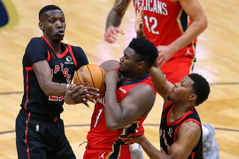 It was another rough night for the Toronto Raptors against the New Orleans Pelicans. (Jonathan Bachman/Getty Images)