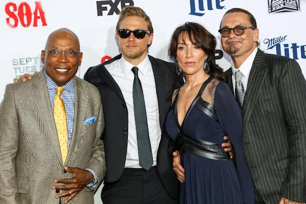 Paris Barclay, Charlie Hunnam, Katey Sagal, and Kurt Sutter