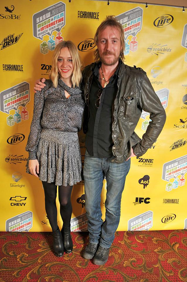 """Chloe Sevigny and <a href=""""http://movies.yahoo.com/movie/contributor/1800018838"""">Rhys Ifans</a> attend the movie premiere of """"Mr. Nice"""" during the 2010 SXSW Festival on March 14, 2010 in Austin, Texas."""
