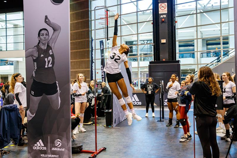 RC Experiences launched the adidas Volleyball Experience in 2019 to provide the country's top high school and club volleyball athletes with accurate, verified stats needed for college recruiting. Credit: Guy Rhodes