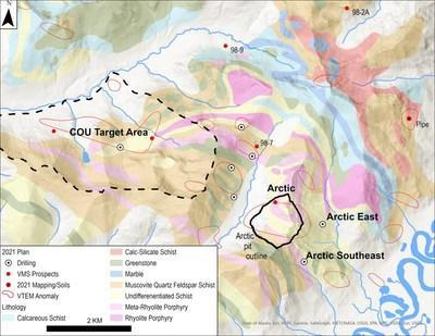 Figure 1. Drilling Locations Near the Arctic Project (CNW Group/Trilogy Metals Inc.)