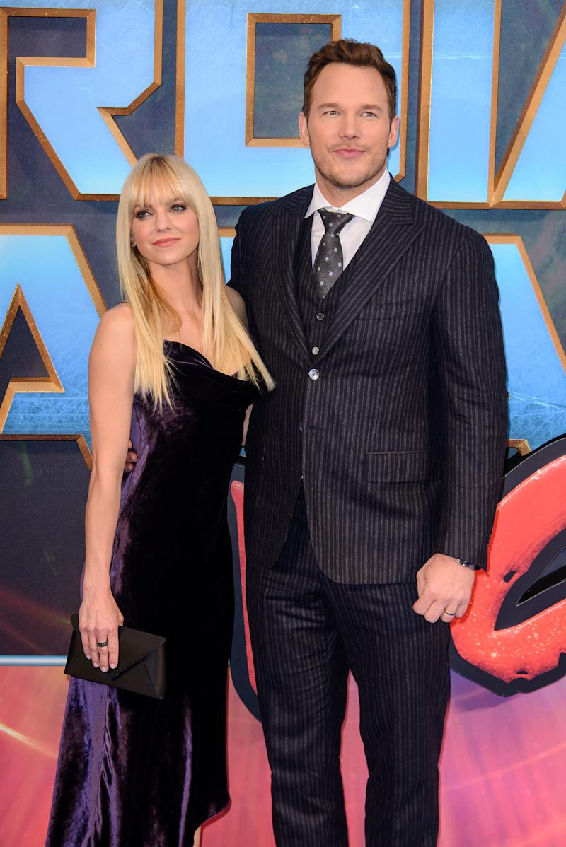 Anna Faris and Chris Pratt's last public appearance as a couple before the announcement of their split. (Joe Maher via Getty Images)