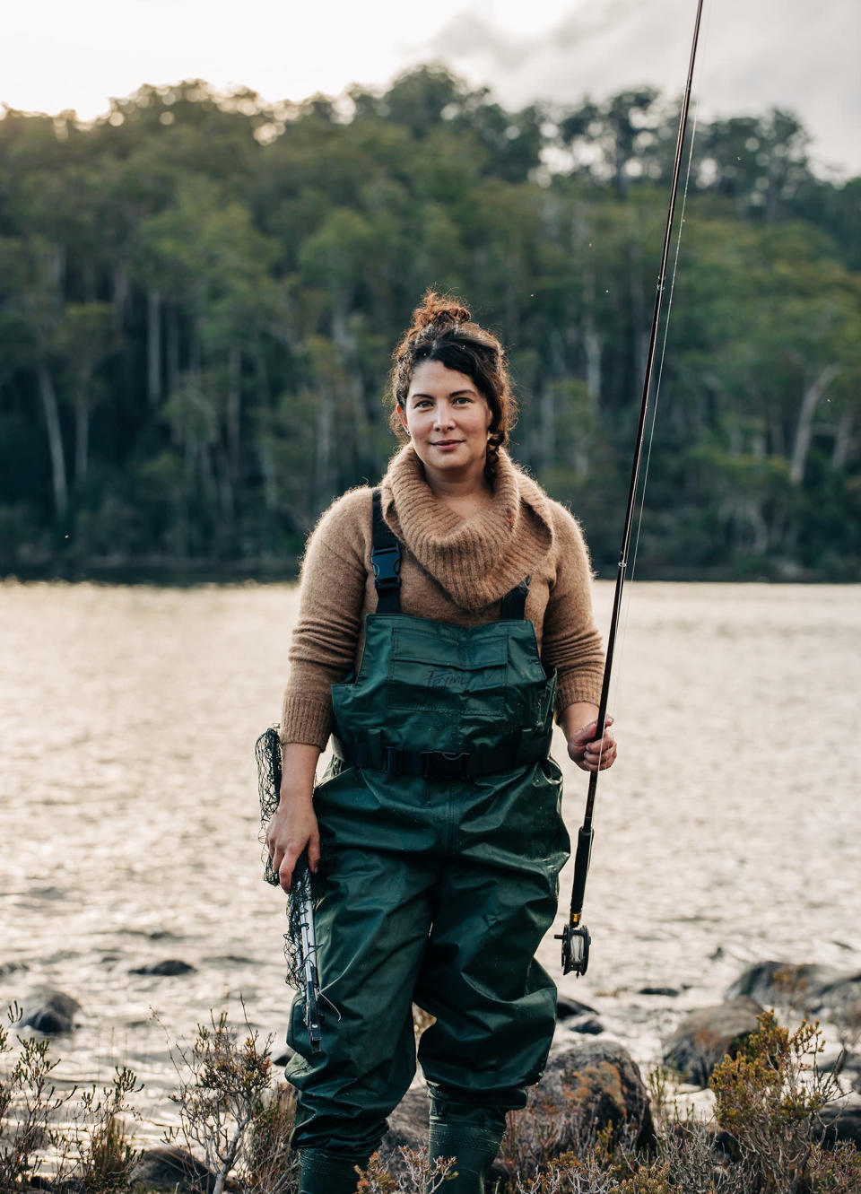 """This image released by Hardie Grant Books shows Analiese Gregory, author of """"How Wild Things Are: Cooking, Fishing and Hunting at the Bottom of the World."""" (Adam Gibson/Hardie Grant Books via AP)"""