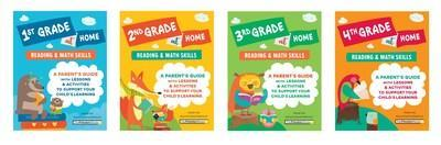 """The Princeton Review's """"Learn at Home"""" Books for Parents to Help Their Kids in First Through Fourth Grade Master Reading and Math Skills"""