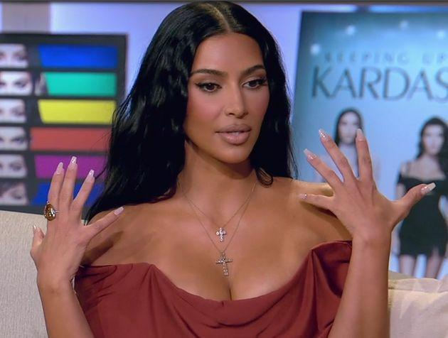 Kim Kardashian opened up about her marriage to Kanye West during the family's sit down with Andy Cohen. (Photo: E!)