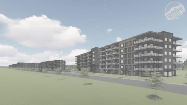 The project includes nine apartment buildings with a total of 940 units.  (Submitted by Spitfire designs - image credit)