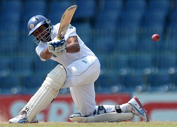 Tillakaratne Dilshan plays a sweep shot during his final Test between Sri Lanka and Bangladesh earlier this year