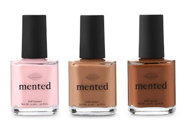 Mented Cosmetics Nude Nail Collection, a flattering shade range for women of color, is available now for $15 at mentedcosmetics.com. (Photo: Mented Cosmetics)