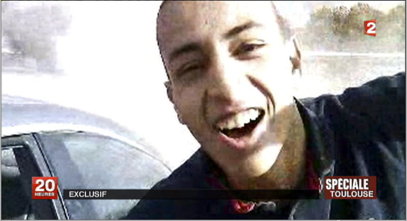 This undated and unlocated frame grab provided Wednesday, March 21, 2012, by French TV station France 2 shows the suspect in the killing of 3 paratroopers, 3 children and a rabbi in recent days, Mohamed Merah. French police were preparing to storm an apartment building in Toulouse on Wednesday to arrest a holed-up gunman who is suspected in seven killings and claiming allegiance to al-Qaida, a top police official said.(AP Photo/France 2)