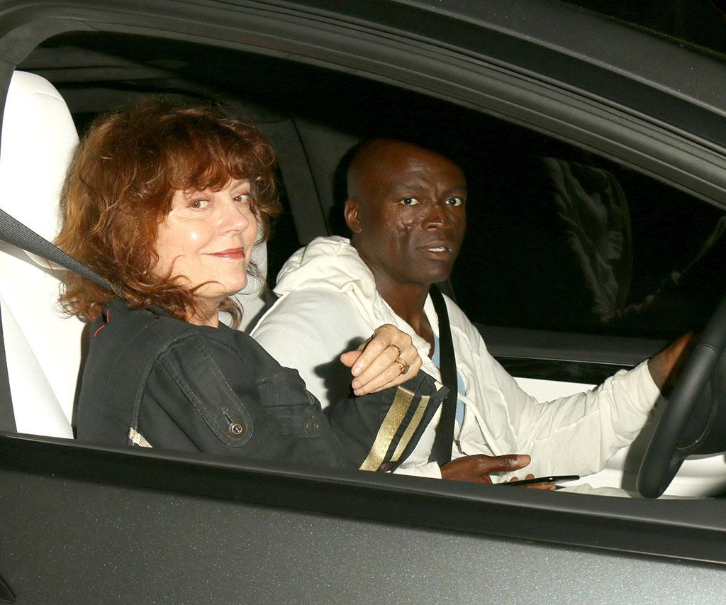 <p>New couple alert? The actress and activist was photographed going to dinner in Beverly Hills with Heidi Klum's singer ex. (Photo: PacificCoastNews.com) </p>