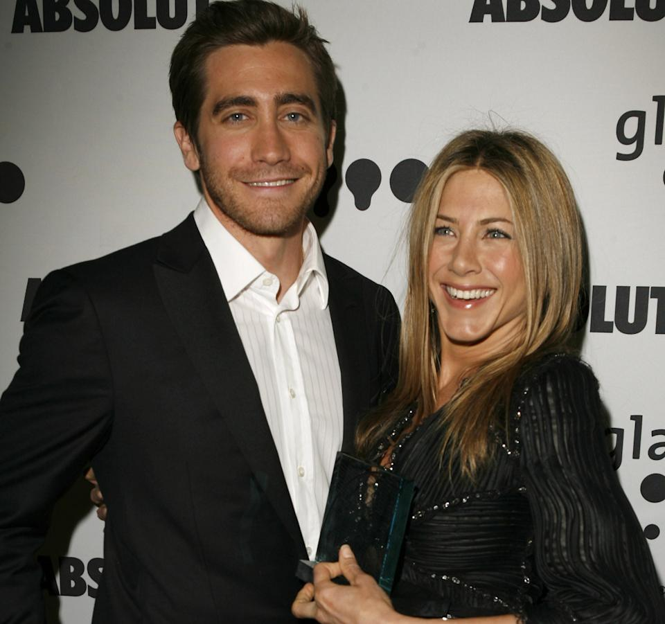 Jake Gyllenhaal and Jennifer Aniston starred in 'The Good Girl' in 2004. (Getty Images)