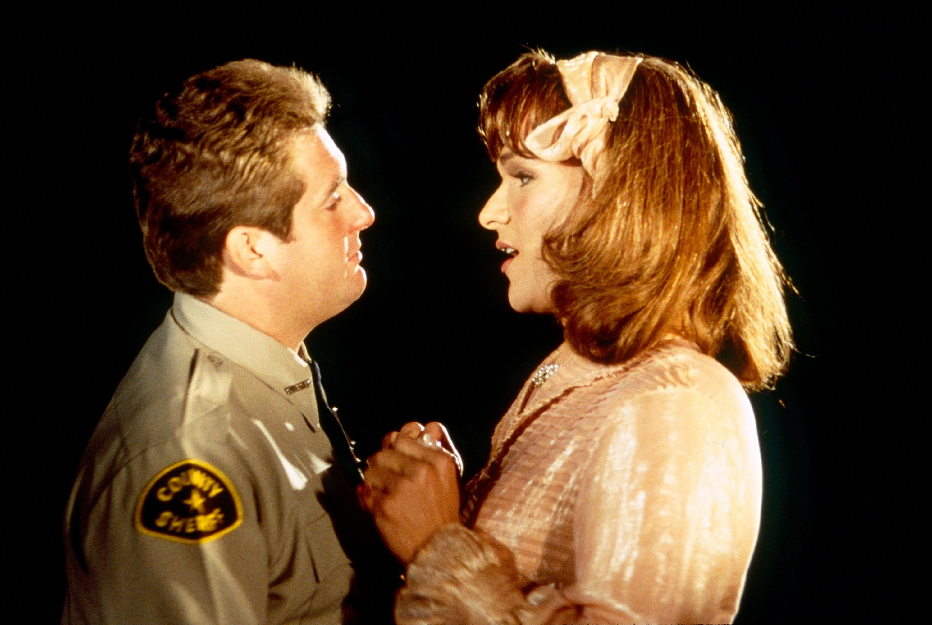 Chris Penn as the bigoted Sheriff Dollard and Swayze as Vida in 'To Wong Foo' (Photo: ©Universal/Courtesy Everett Collection)