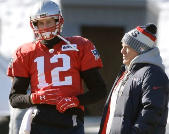 Tom Brady's hand is the hot topic of the NFL heading into the conference championships. (AP)