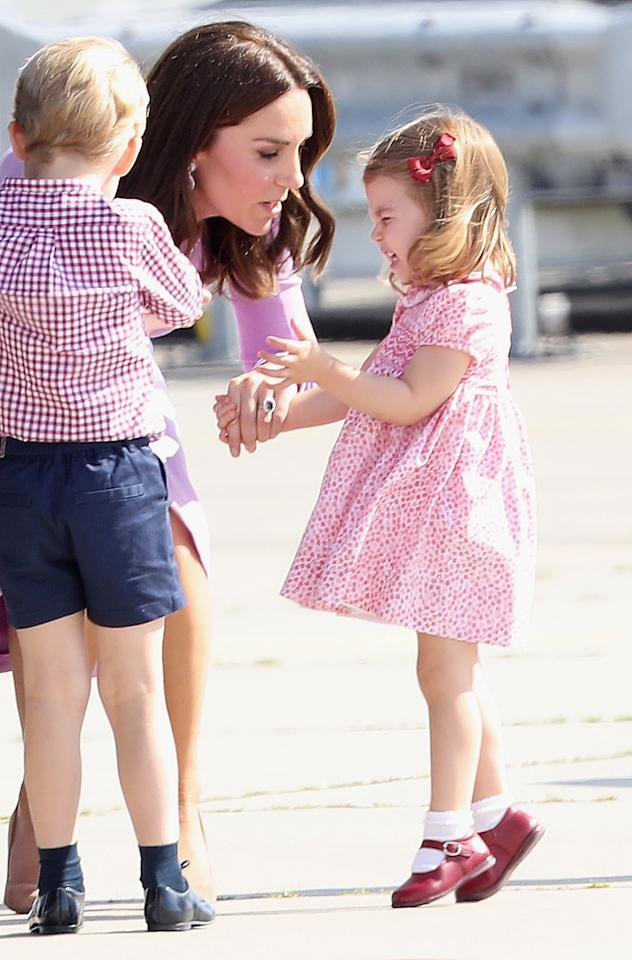 "<p>Charlotte: ""I thought I was the royal baby?!""</p>"