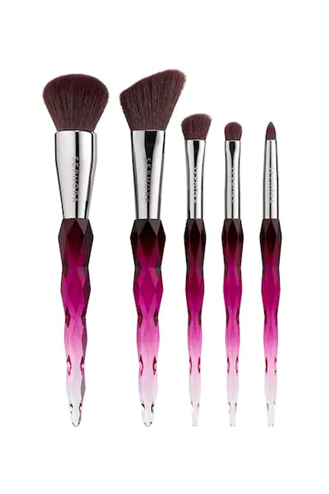 """<p>$39</p><p><a class=""""body-btn-link"""" href=""""https://www.sephora.com/product/precious-gems-brush-set-P431861"""" target=""""_blank"""">SHOP NOW</a></p><p>Help her brighten up her vanity with these gem-inspired brushes that she'll love using when she gets ready in the morning.</p>"""