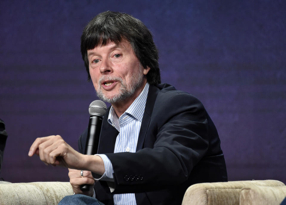 """FILE - Ken Burns, director of the PBS documentary series """"Country Music,"""" takes part in a panel discussion during the Television Critics Association Summer Press Tour on July 29, 2019, in Beverly Hills, Calif. Burns turns 68 on July 29. (Photo by Chris Pizzello/Invision/AP, File)"""