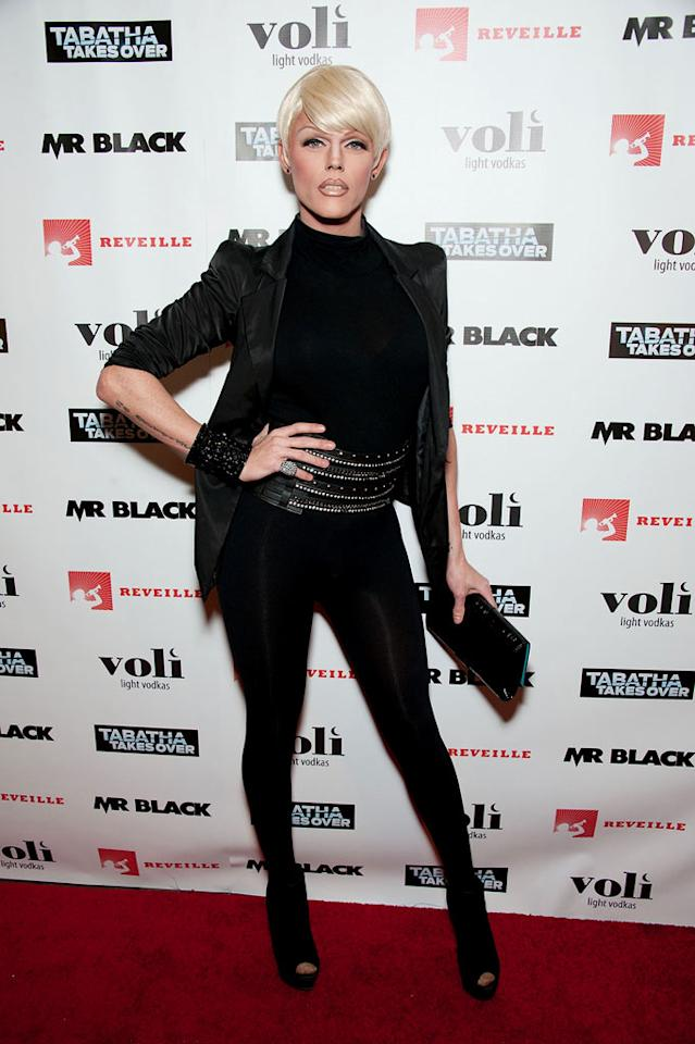"""Morgan Michaels attends Bravo's """"Tabatha Takes Over"""" premiere party at Mr. Black on January 10, 2012 in Los Angeles, California."""