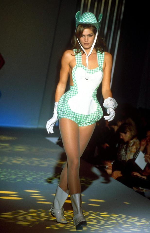 <p>As Cindy rightly said, some looks should stay on the catwalk… <i>[Photo: Rex]</i></p>