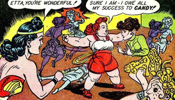 Etta Candy in an early comics appearance. (Credit: DC Comics)