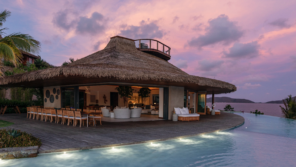 The Point Estate's Great Room at sunset. - Credit: Courtesy Virgin Limited Edition