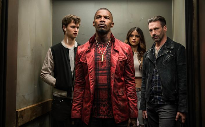 """Directed by Edgar Wright &bull; Written by Edgar Wright<br><br>Starring Ansel Elgort, Jamie Foxx, Jon Hamm, Kevin Spacey,&nbsp;Eiza Gonz&aacute;lez,&nbsp;Sky Ferreira, Jon Bernthal and Flea<br><br><strong>What to expect:&nbsp;</strong>The first """"Baby Driver"""" reviews out of South by Southwest called the movie """"<a href=""""http://screencrush.com/baby-driver-review/"""" rel=""""nofollow noopener"""" target=""""_blank"""" data-ylk=""""slk:thrilling"""" class=""""link rapid-noclick-resp"""">thrilling</a>"""" and """"<a href=""""http://www.indiewire.com/2017/03/baby-driver-review-edgar-wright-ansel-elgort-jon-hamm-sxsw-2017-1201792735/"""" rel=""""nofollow noopener"""" target=""""_blank"""" data-ylk=""""slk:wildly successful"""" class=""""link rapid-noclick-resp"""">wildly successful</a>."""" Essentially a two-hour music video, this crime caper with&nbsp;rom-com undertones stars Ansel Elgort as a getaway driver attempting to abandon his heist habits. Key word: """"attempting.""""<br><br><i><a href=""""https://www.youtube.com/watch?v=z2z857RSfhk"""" rel=""""nofollow noopener"""" target=""""_blank"""" data-ylk=""""slk:Watch the trailer"""" class=""""link rapid-noclick-resp"""">Watch the trailer</a>.</i>"""