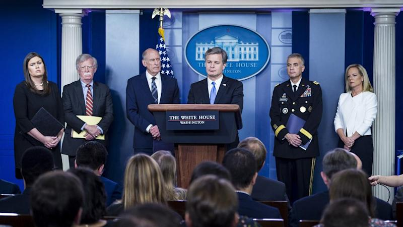 WH Press Briefing Intelligence Leaders
