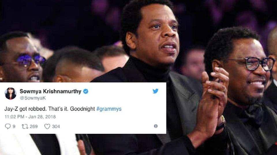 Jay-Z fans are not pleased with the Recording Academy. (Photo: Twitter)