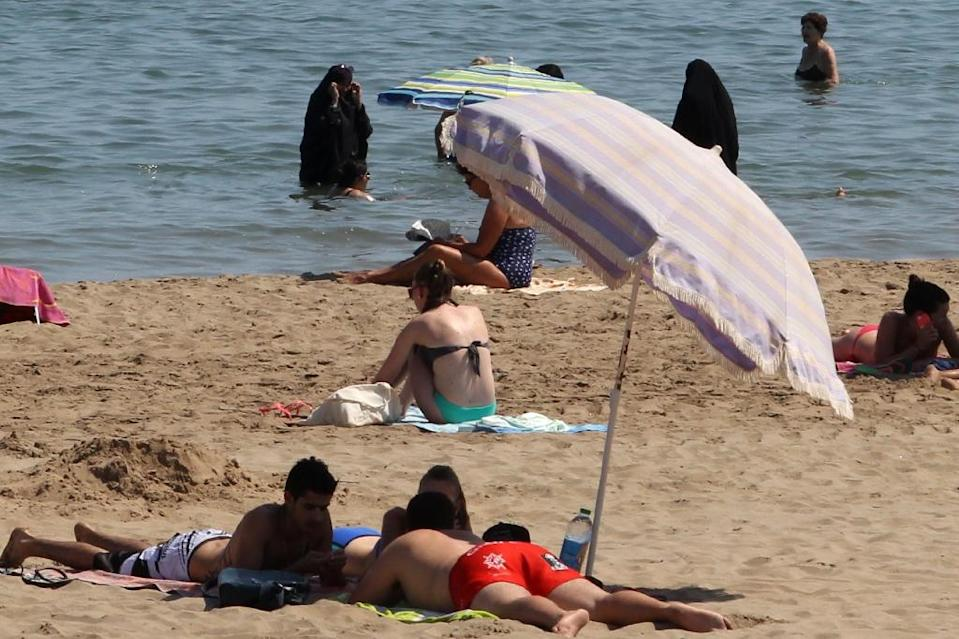 The French beach ban on Islamic garb has caused controversy over women's rights and secularism and confusion over what constitutes a burkini (AFP Photo/Raymond Roig)