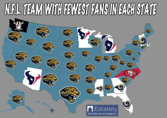 Cool Map Thing Washington Loves The Seahawks Bills Hates - Nfl us map