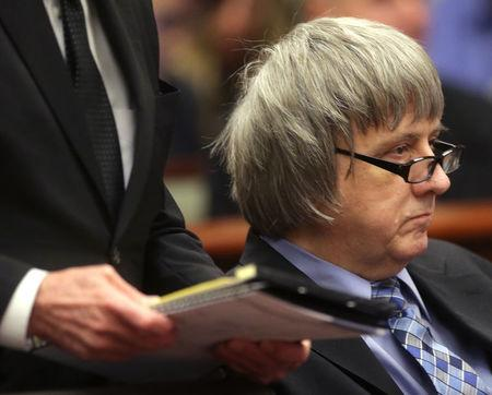 David Turpin appears in court with Louise Turpin (not pictured) in Riverside, California, U.S., February 23, 2018. REUTERS/Watchara Phomicinda/Pool