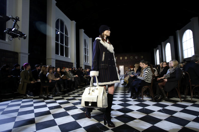 Weather's silver lining: coat comfort on runways