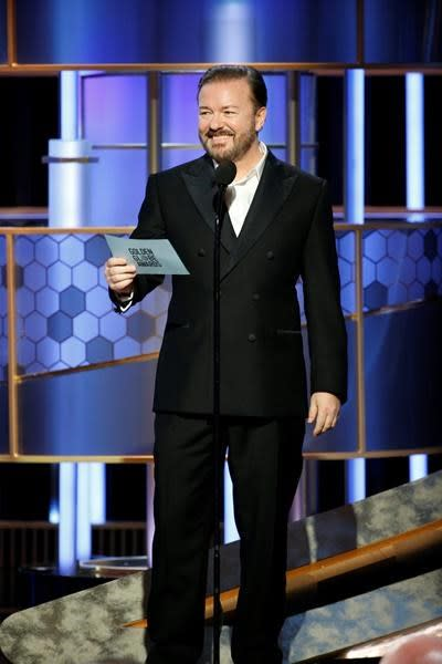 Ricky Gervais mocks Hollywood with explicit jokes at Globes