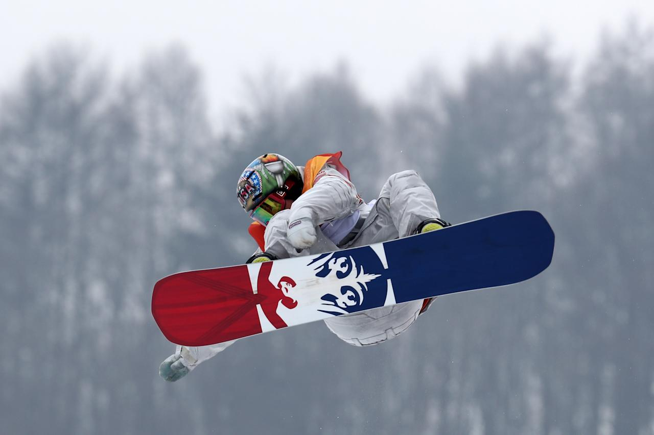<p>Chris Corning of the United States competes during the Men's Slopestyle qualification on day one of the PyeongChang 2018 Winter Olympic Games at Phoenix Snow Park on February 10, 2018 in Pyeongchang-gun, South Korea. (Photo by Clive Rose/Getty Images) </p>
