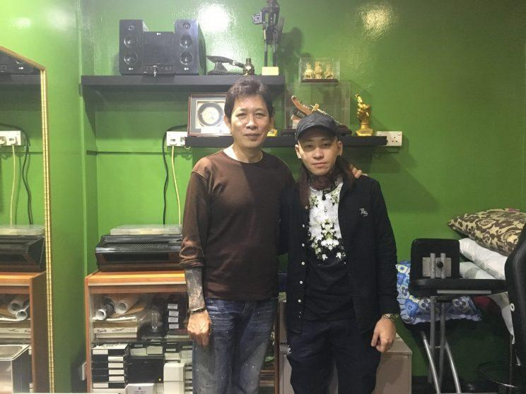 Pioneer tattoo artist William Yeo, 58, has been teaching Rain Wu, 33, tattooing for 10 years. (Photo:Yahoo Lifestyle Singapore)
