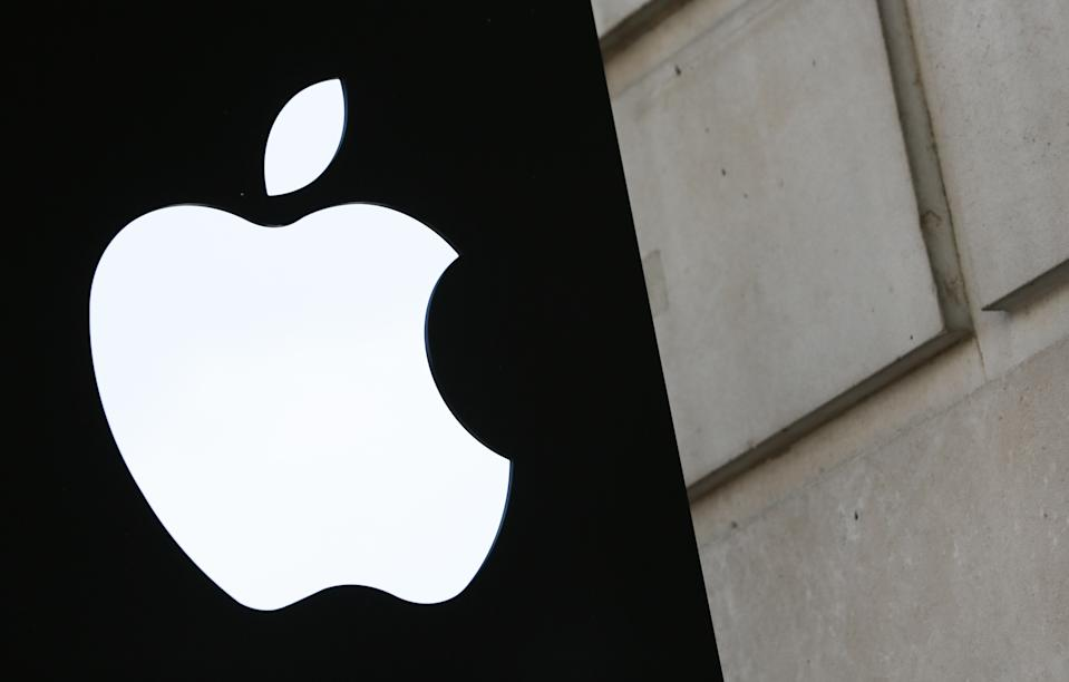 A picture shows the Apple logo outside the Apple store in Covent Garden in London August 30, 2016. - The European Commission's demand for Apple to pay Ireland some 13 billion euros in back taxes has put the country in the strange position of refusing the windfall for fear of scaring away valuable investment. Rather than welcoming the cash -- equivalent to around five percent of its gross domestic product -- the government has vowed to appeal the ruling, fearing an ever greatest cost to its economy and jobs. (Photo by Daniel LEAL-OLIVAS / AFP)        (Photo credit should read DANIEL LEAL-OLIVAS/AFP via Getty Images)