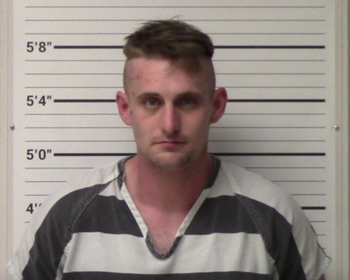 <p>Coleman Thomas Blevins, 28, has been arrested on suspicion of plotting a mass shooting at a Walmart in Texas</p> (Kerr County Sheriff's Office)