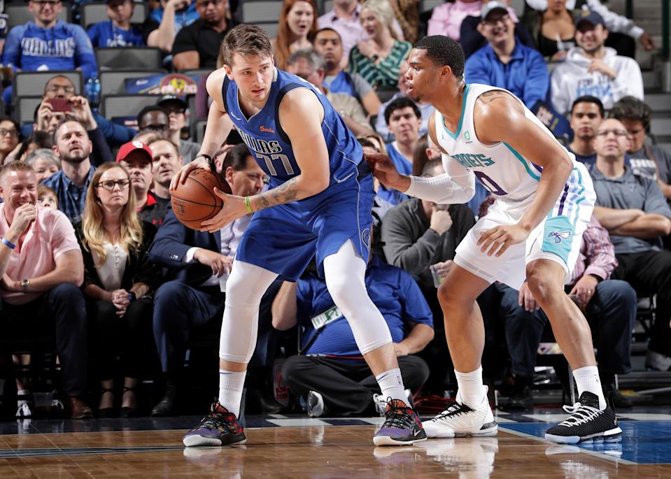 Mavericks rookie Luka Doncic continues to set records as the youngest player to have multiple triple-doubles. (Photo by Glenn James/NBAE via Getty Images)