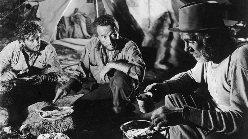 Tim Holt, Humphrey Bogart, and Walter Huston in the 1948 film version of the novel The Treasure Of The Sierra Madre