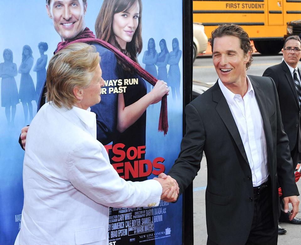 Matthew McConaughey and Michael Douglas. 27 April, 2009, Hollywood, CA. Ghosts Of Girlfriends Past Los Angeles Premiere held at the Grauman's Chinese Theatre. Photo Credit: Giulio Marcocchi/Sipa Press. /Ghosts_gm.080/0904280826