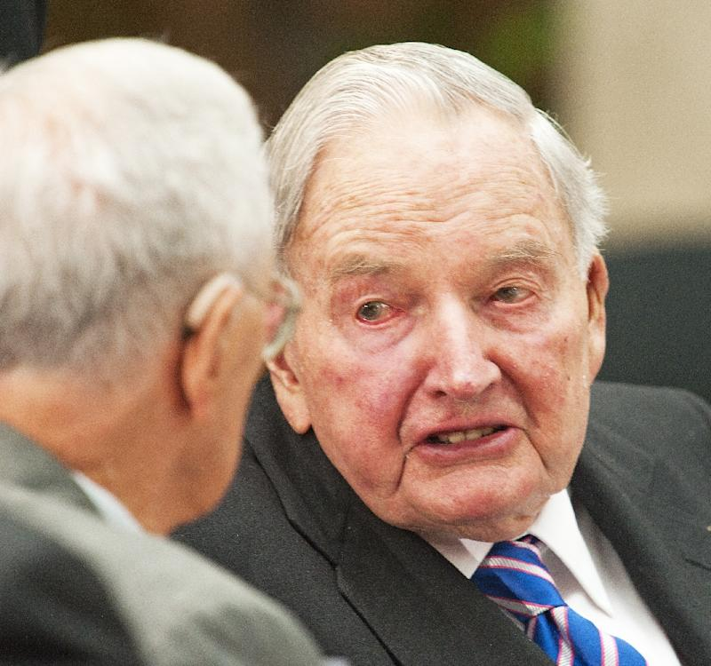 David Rockefeller, pictured in 2010, a former chief executive of Chase Manhattan bank, was an outspoken champion of American capitalism