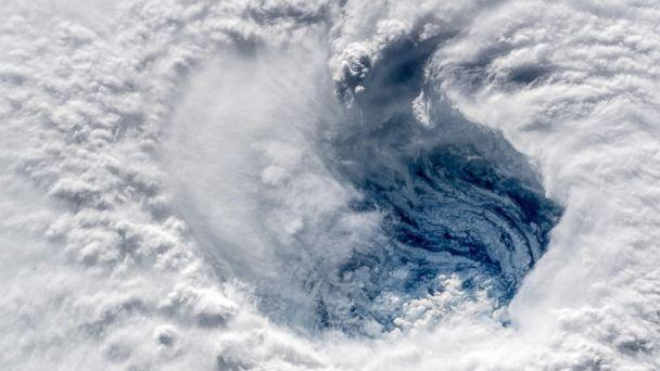 PHOTO: Ever stared down the gaping eye of a category 4 hurricane? It's chilling, even from space. #HurricaneFlorence #Horizons  (Alexander Gerst/Twitter)